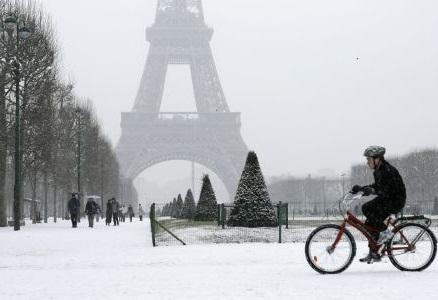 Paris sous la neige u