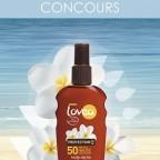 CONCOURS : 3 huiles sèches Lovea SPF50 à gagner ! [Terminé]